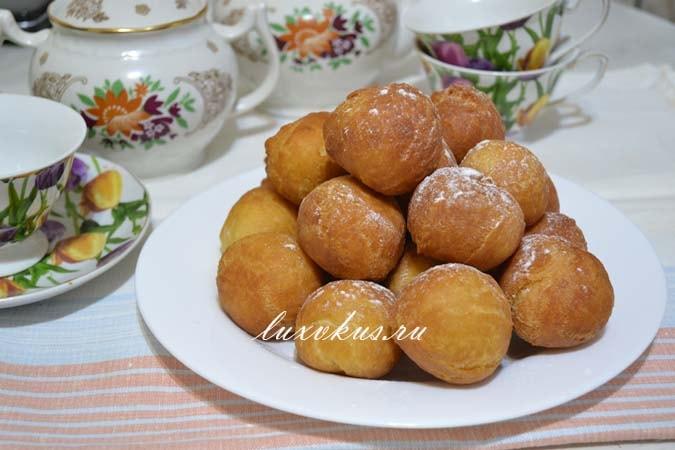 Творожные пончики готовим дома