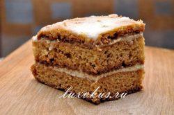 Кусочек простого медового торта