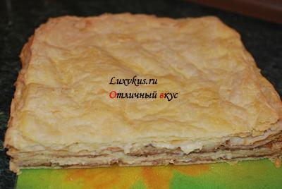 Самый простой торт наполеон