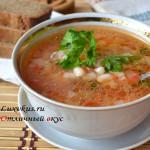 Приготовление супа с фасолью