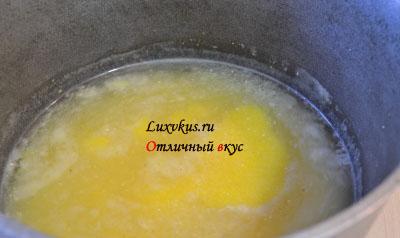 Приготовление мамалыги