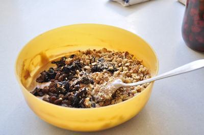 Тесто для кекса с сухофруктами и орехами
