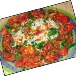 Рис с пикантным салатом