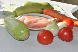 Продукты для приготовления кабачков