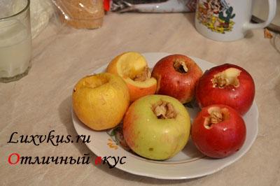 Яблоки с орехами для пирога