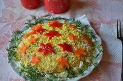 Салат с курицей и свежем огурцом