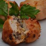 Куриное филе с сыром и грибами