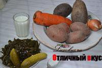 Продукты для салаты из свеклы и морской капусты