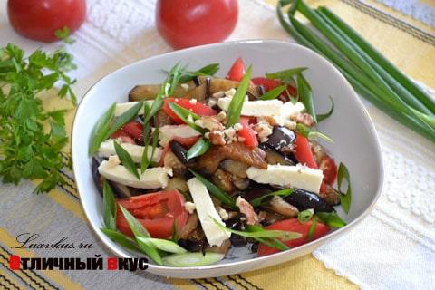 Салат из баклажанов и сыра фото
