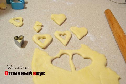 Печенье сердечки