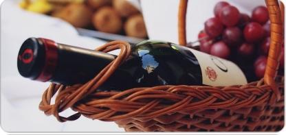 Подарочная корзина с вином