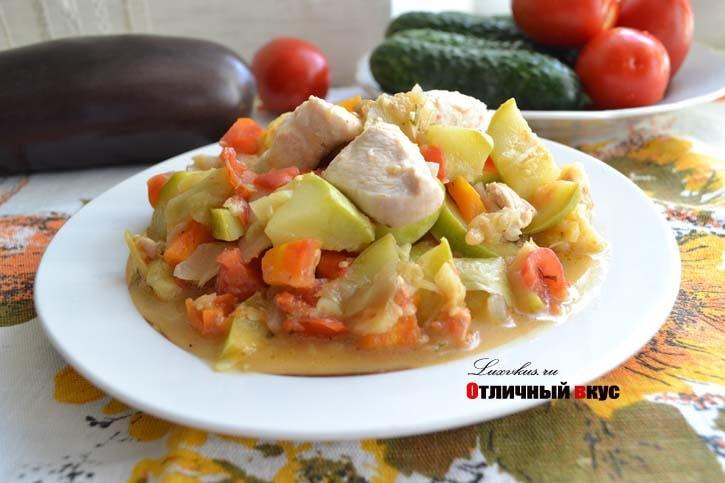 Как сделать овощное рагу из кабачков