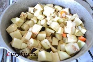 Тушим овощи для рагу