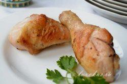 голени куриные на сковороде