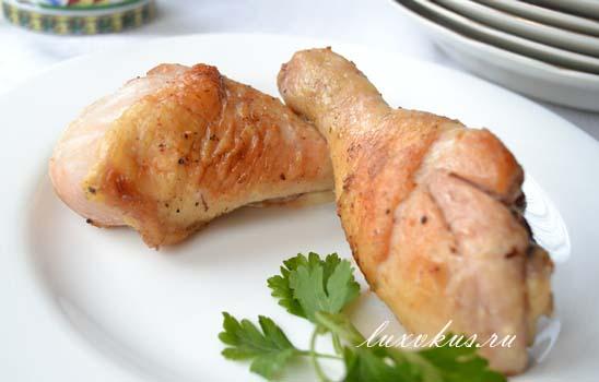 Жаренные куриные голени