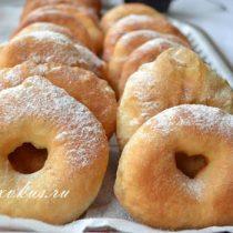 как сделать пончики с дыркой в домашних условиях фото