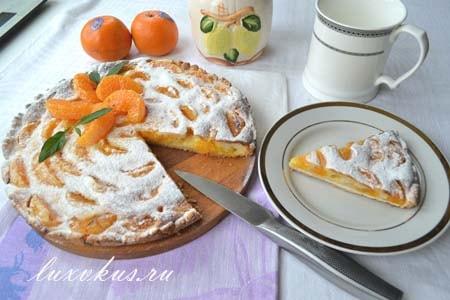 мандариновый пирог фото
