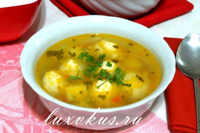 Суп с куриными фрикадельками, суп куриный
