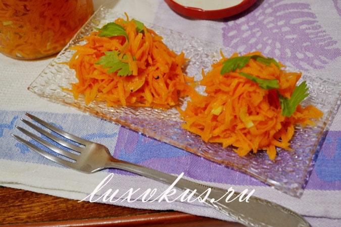 маринованная морковь рецепт с фото