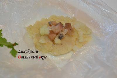 Селедочная закуска на картофельной основе