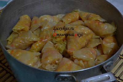 Постные овощные голубцы с кукурузной крупой