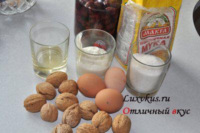 Ингредиенты пирога на сметане