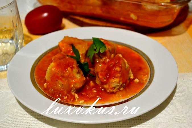 Рыбные тефтели в томатном соусе 2