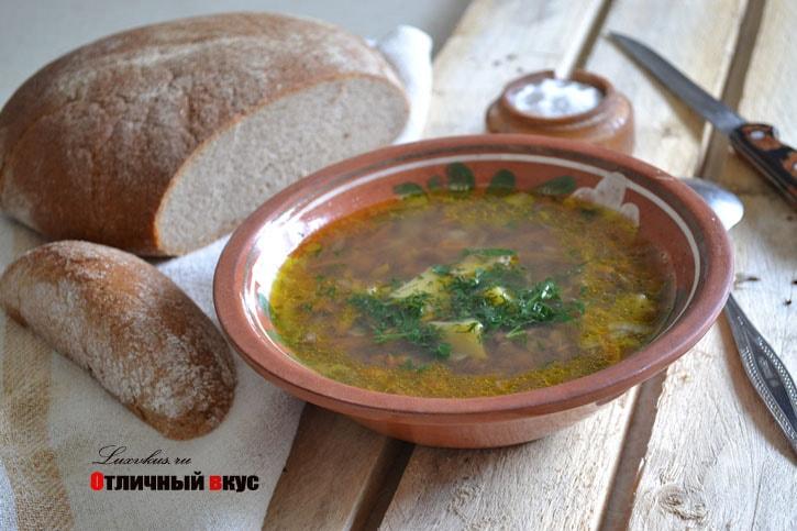 Постный суп из чечевицы фото