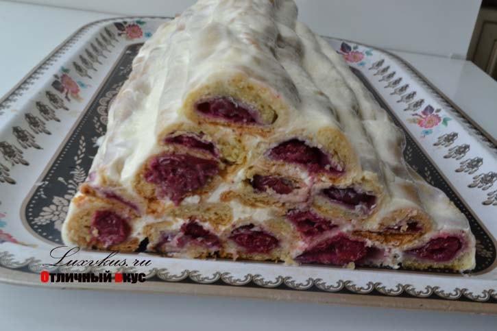Торт с вишней монастырская изба