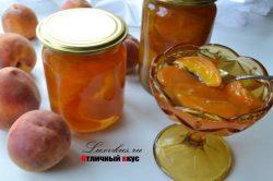 варенье из персиков на зиму фото