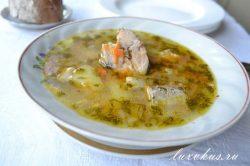 суп со скумбрией
