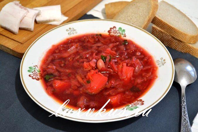 украинский борщ с фасолью фото